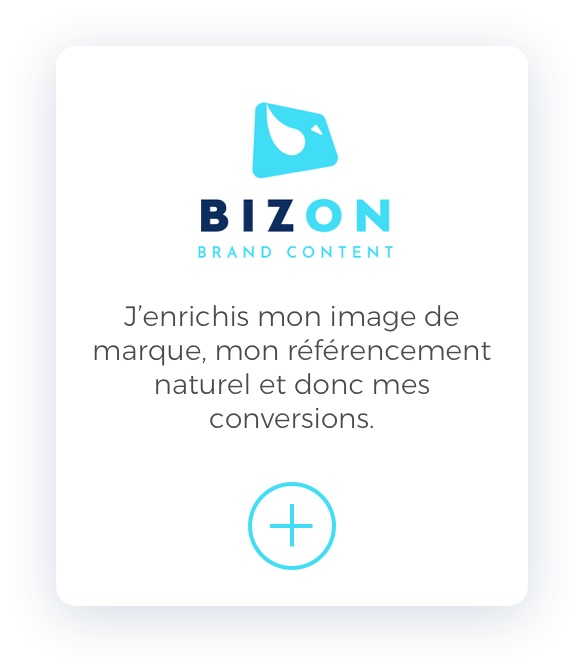 Bizon Brand content Mobile Slider