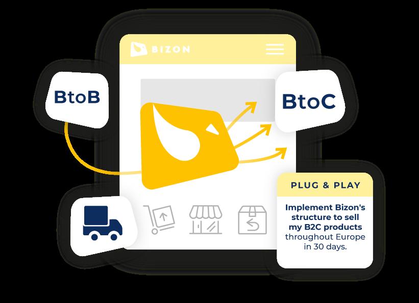 Bizon distribution illustration