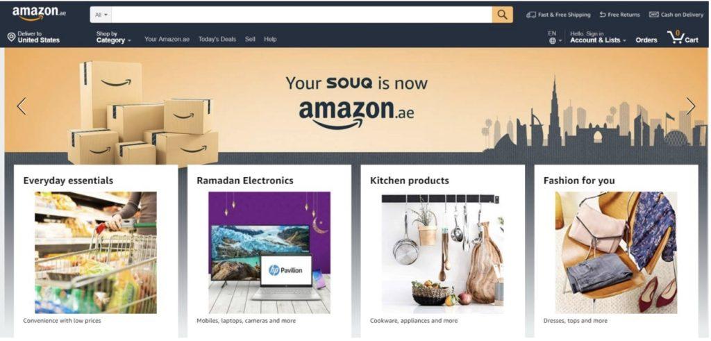 Amazon lance Amazon.ae, qui remplace Souq.com