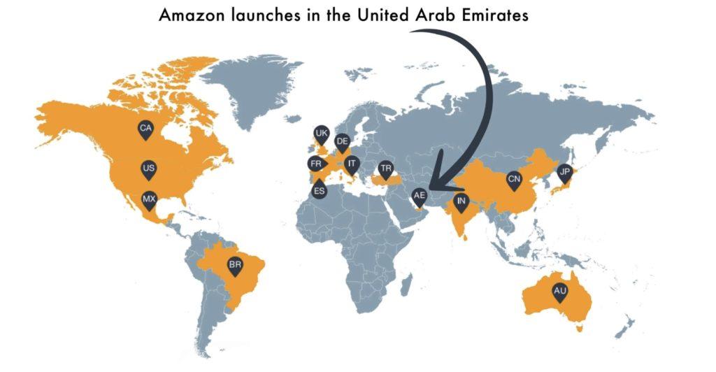 Amazon lance Amazon ae, son premier site aux Emirats Arabes Unis.